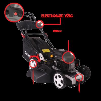 Samohodna Bencinska Kosilnica Z Elektro Vzigom 20rt 200 E3